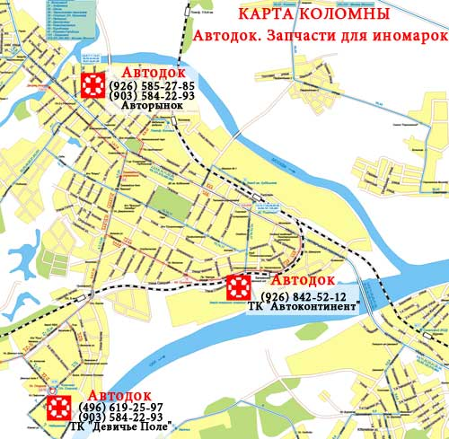 Схема проезда к АВТОДОК в